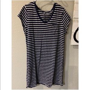 Gal XL Navy White T Shirt Dress Nautical